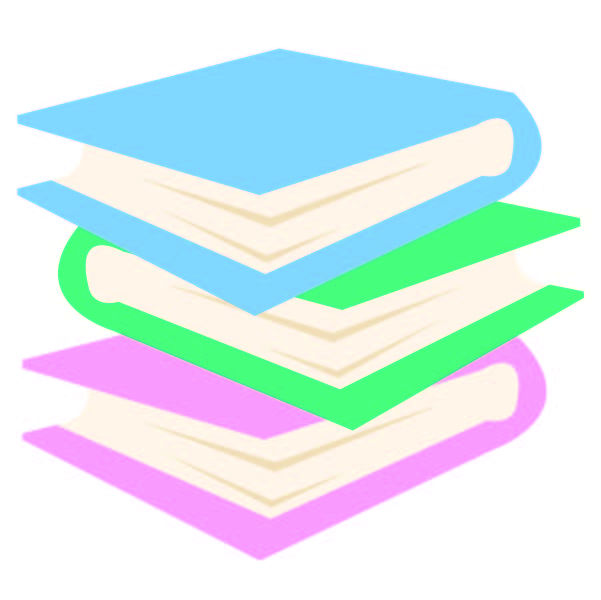 A stack of Library books