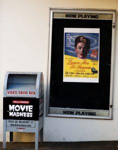 Movie billboard and Movie Madness Video Drop Box