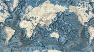 Map of the oceans floors